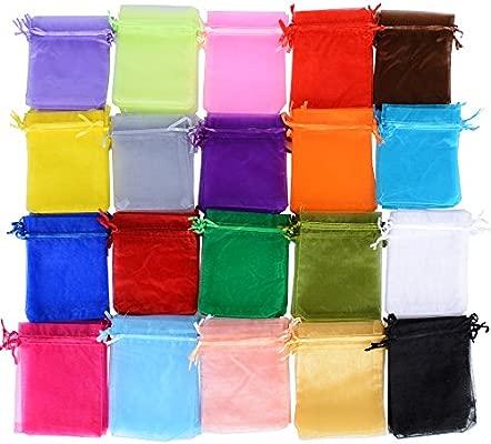 AONER 100 X Bolsas Bolsitas de Organza de Boda 10X12cm para Regalo Joyas Caramelo Dulces Recuerdo Favores Detalles de Boda (Colores)