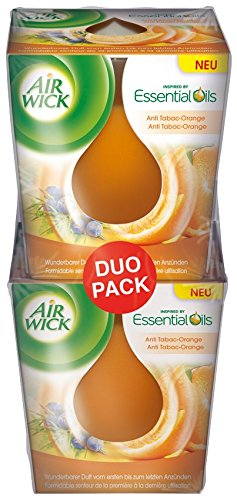 Air Wick Wohlfühl-Duftkerze, Anti Tabac-Orange, 3er Pack (3 x 105 g ...