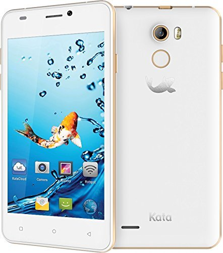 Kata V5 - 4.5-inch IPS Quad Core International Unlocked Smartphone Android 5.1 - Super Slim HD 1.3 GHz Dual Sim Card GSM 8MP Camera (White) by Kata