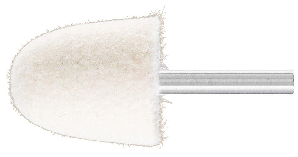 PFERD 48603 Conical Felt Point, Shape KEL, 1-1/4'' Diameter x 1-3/8'' Length, 1/4'' Shank Diameter x 1-5/8'' Shank Length, 15500 Max RPM (Pack of 10)
