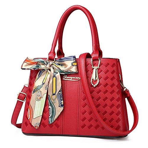 Bag Borsa colore Messenger Rosso Xuanbao Pendolari Casuale Semplice Selvagge Rosso Spalla Donne znnxg8F