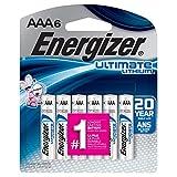 Energizer Ultimate Lithium AAA Batteries (6 Pack) L92BP-6 {Retail Package}