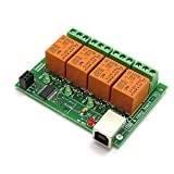 USB 4 Channel (10A) Relay Output Module,Board for Home Automation