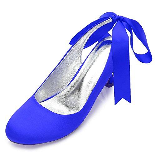 Nozze Blu Per Sposa Pattini L 17061 Medio Yc Donna Chiusa Scarpe Punta Con T 46 xwn0CHqRO