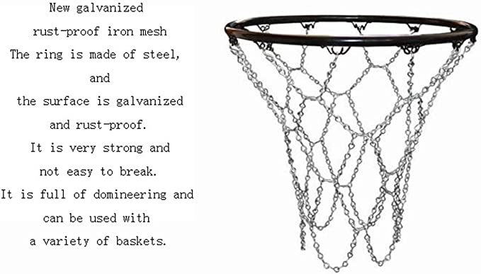 Dimensione : New Galvanized Rust-Proof Iron Cxp Boutiques Bold Nets 12 Net Hook Professional Basketball Nets Standard Basket Reti Reti Reti Ordinary Entry Level