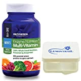 Enzyme Nutrition Men's Multi-Vitamin, Whole Food Nutrition, 120 Capsules Bundle with Lumintrail Pill Case