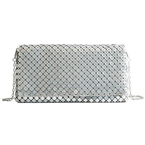 RARITY-US Women Rhinestone Evening Bag, Shining Envelope Purse Clutch Handbag Crossbody Shoulder Bag for Wedding & Party