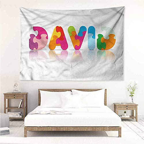 Sunnyhome Simple Tapestry,David Traditional Male Name,Home Decorations for Bedroom Dorm Decor,W71x59L - Name Celtic Dragons Light