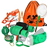 My-My Gifts Toys for 3-8 Year Old Boys, Adventure Outdoor Exploration Kit for Kids Fun Toys Educational Toys Birthday Present Kids Binoculars Set for Camping Hiking Pretend Play 10P MMUSTX01