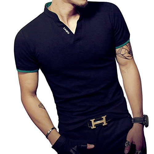 LOGEEYAR Mens Short-Sleeve Slim Fit Cotton Pique Polo ()