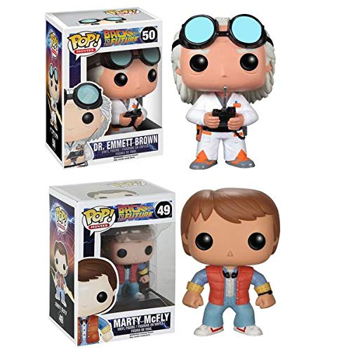 Funko POP! Vinyl Figure Back to the Future Collector Bundle with Marty Mcfly #49 & Doc Emmet Brown #50 (2 items) -