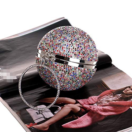 Ball Diamante Soirée À color Color Red Nightclub Sac Shape Femmes Main Mariage De Silver Drill Prom Cocktail D'embrayage Pour Mallty Bag tq5w4xpx