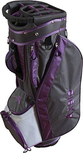Axglo A182 Econo Golf Cart Bag Purple/Grey