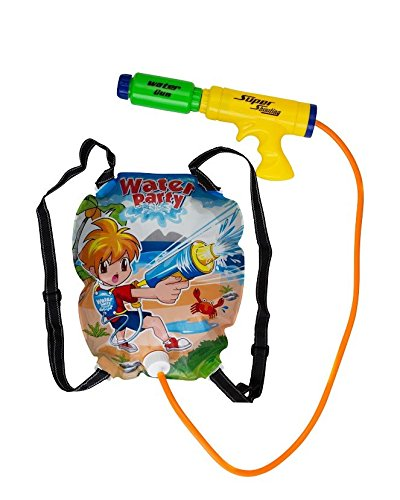 Water Gun Backpack Super Soaker For Kids - Powerful Pistol Squirt Gun, By Mix Maxx