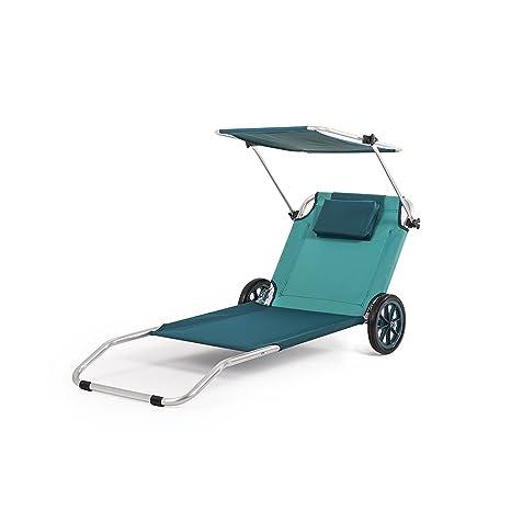 Sedia Sdraio Con Ruote.Home Forza Sedia A Sdraio 3 In 1 Maui Ride Con Ruote 117 X 12