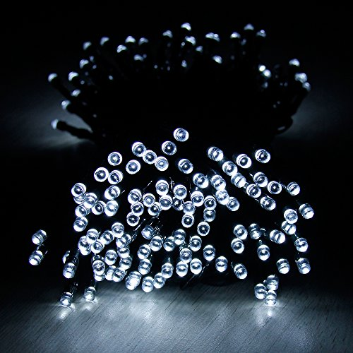 Solar String Lights, Addlon Christmas 115ft(35m) 300 LED 8 Modes,Fairy String light for Decor,Home,Garden, Patio
