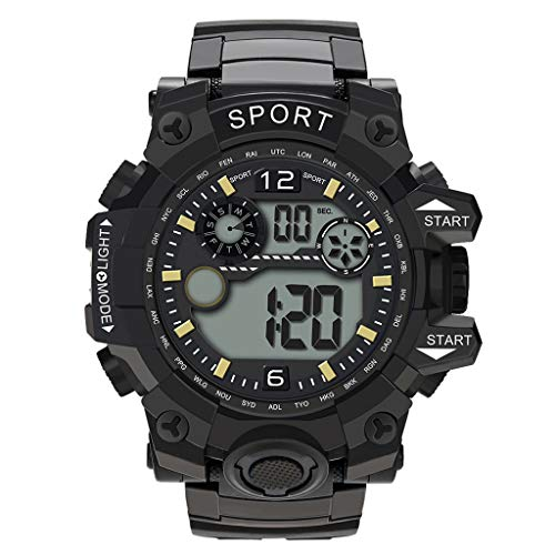 Mens Watches,Fxbar Fashion Outdoor Sport Analog Dive Watch Cool Design Automatic Watch Men Watch(Black)