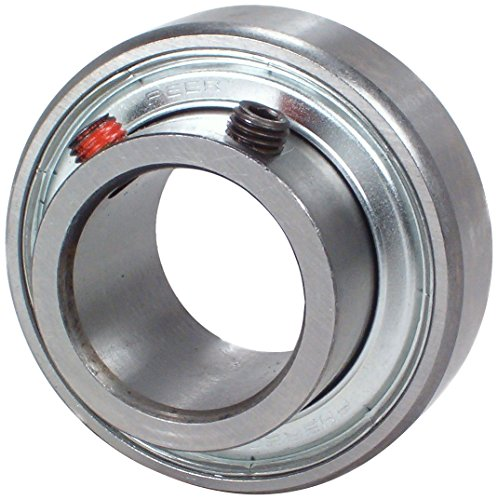 0.75 Inch Insert Bearing - Peer Bearing FHSR204-12 Insert Bearing, FHSR200 Series, Narrow Inner Ring, Cylindrical Outer Ring, Non-Relubricable, Set Screw Locking Collar, Single Lip Seal, 3/4