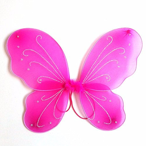 Dushi Butterfly Craze Fairy Butterfly Wings Party Favor (hot pink) … ()