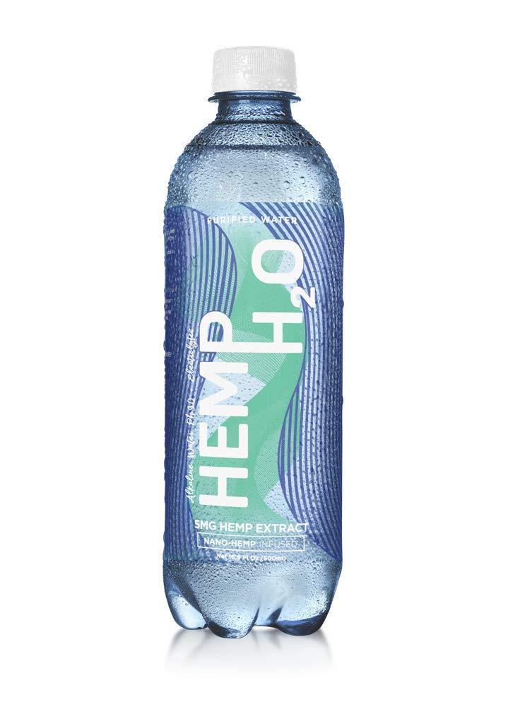 Hemp H20 5MG Hemp Extract,Alkaline PH 9.0 + Electrolytes, 24 Pack, Refreshing Taste,30 lb Per Shipment
