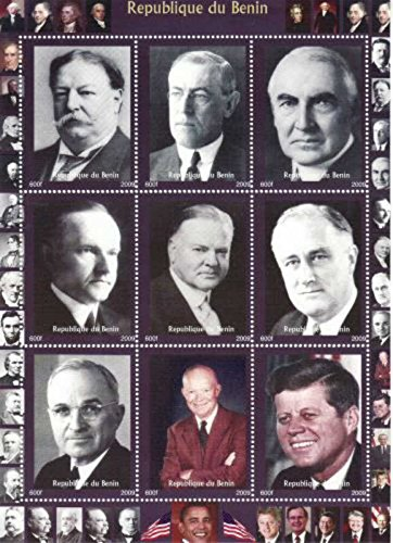 US President stamps for Collectors - 9 mint stamps of American Presidents - Unmounted and unhinged ()