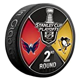 #10: The Hockey Company 2018 STANLEY CUP PLAYOFFS 2nd ROUND PUCK DUELING TEAMS CAPITALS V. PENGUINS 2ND ROUND PRE-ORDER ITEM - SHIPPING BEGINS ON MAY 15TH WASHINGTON PITTSBURGH