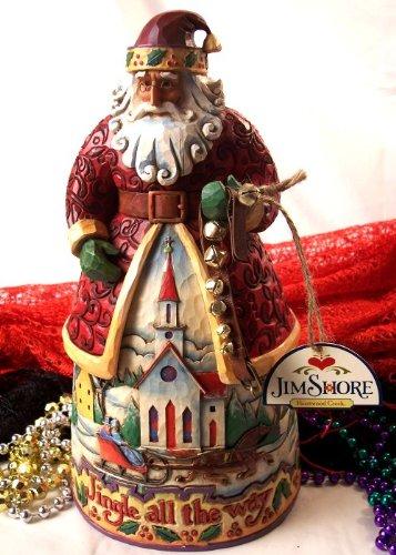 Bobtail Ring - Jim Shore Santa With Jingle Bells - Bells On Bobtail Ring