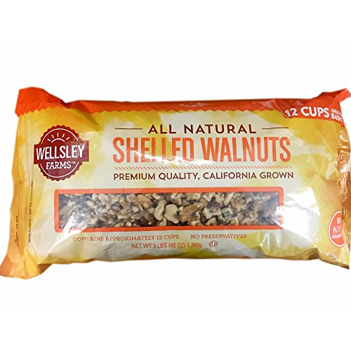 Wellsley Farms Shelled Walnuts, 3 lbs. (pack of 6) by Wellsley Farms (Image #1)