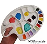 Plastic Paint Palette - Best for Acrylic Paint, Watercolor Paint , Oil Paint, & Gouache Paint, Suitable For Kids And Adults. Lightweight, Smart Size With Thumb Hole And Versatile Painting Wells