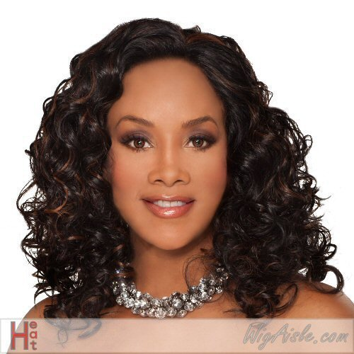 CHERISH-V (Vivica A. Fox) - Futura Fiber Lace Front Wig in OFF BLACK -