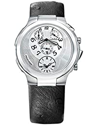 Philip Stein Chronograph watch White dial on a Black Ostrich strap