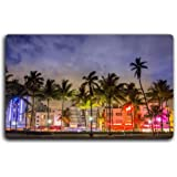 miami-beach-night-florida tourism scenery features creative tourism souvenirs Magnetic fridge magnet