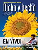 Dicho en Vivo : Beginning Spanish with Personal Native-Speaker Coaching Annotated Instructor's Edition, Potowski, Kim, 1118230671