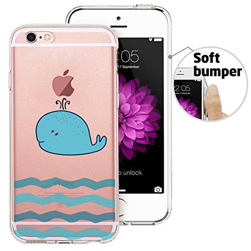 iPhone 6 Case, iPhone 6S Case, Doramifer Funny Series Protective Case [Anti-Slip] [Good Grip] [Ultra Thin] with Aesthetic 3D Print Soft Back Cover for 4.7 inch iPhone 6/6S (Blue Whale)