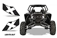 AMR Racing UTV Headlight Eye Graphic Decal Cover for Arctic Cat Wildcat - Lights Out