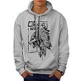 Best Girlfriend Sweaters - Wellcoda The Lone Wolf Indian Mens Hoodie, Wild Review