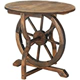 Zingz and Thingz Wagon Wheel Table
