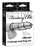 Pipedream Products Fetish Fantasy Elite Cockcage And Ring Set