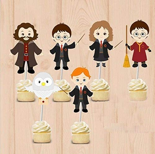Harry Potter Cake - Harry Potter party Cupcake Toppers Harry Potter Birthday Party Decorations Party Supplies Birthday Party Decorations Kids