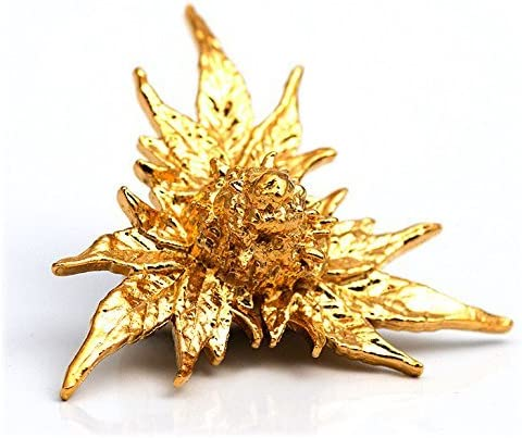 24K Gold Plated with Details 3D Cannabis Bud Earings