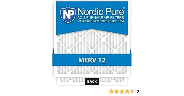 Nordic Pure 24x24x1 23/_3//8x23/_3//8 MERV 8 Pleated AC Furnace Air Filters 3 Pack 24x24x1 23/_3//8x23