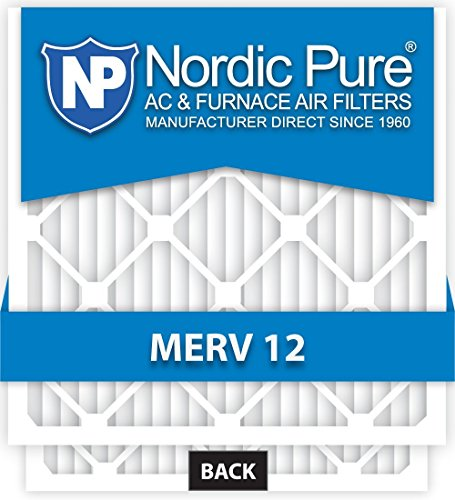 16x16x1-MERV 12 A/C Furnace Air Filters by Nordic Pure (Box of 6)