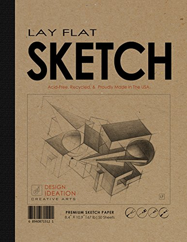 Lay Flat : Premium Paper Multi-Media Sketch Book for Pencil, Ink,...