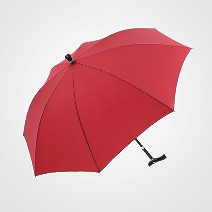 Paraguas de trepado Old man Paraguas Straight Bar paraguas soleado antideslizante muleta Umbrella paraguas al aire