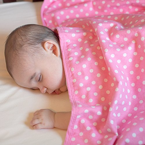 SYB Cotton Flannel Baby Blanket; EMF Anti-Radiation Protector for Your Baby (Pink) by SYB (Image #6)