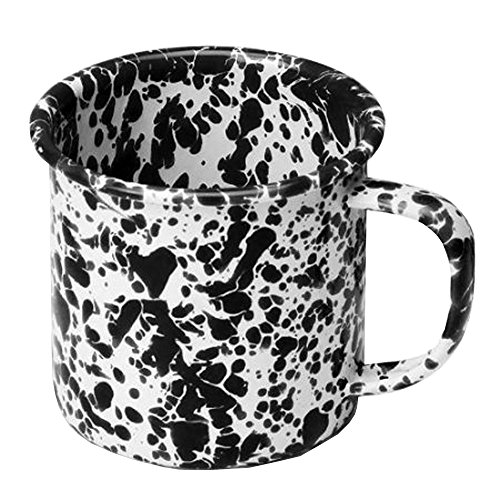 Enamelware 12 Oz. Coffee Mug, Black ()