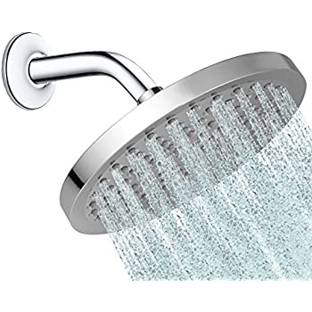 Round 8 Inch Rainfall Shower Head   Fixed Wall Or Ceiling Mounted Chrome  Rain Showerhead,