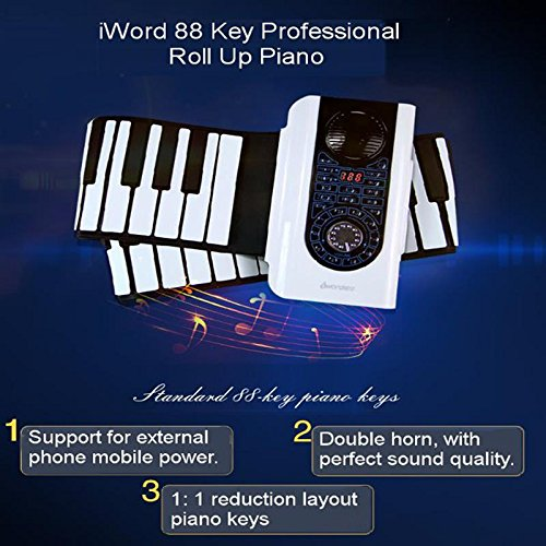 iWord 88 Key Professional Roll Up Electronic Piano With MIDI