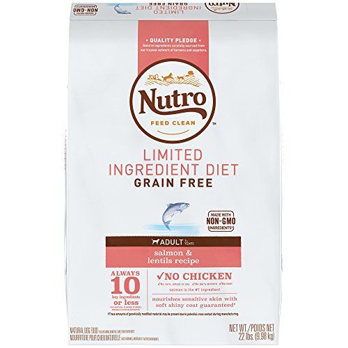 NUTRO Limited Ingredient Diet Natural Adult Dry Dog Food Salmon & Lentils, 22 lb. Bag (Dog Salmon Nutro)