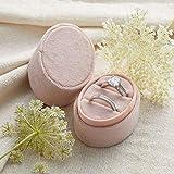 Velvet Ring Box Blush Pink, Engagement Ring Box, Ring Bearer Box, Wedding Ring Box, Wedding Photo Shoot, Engagement Photo Shoot, Bridal Gift